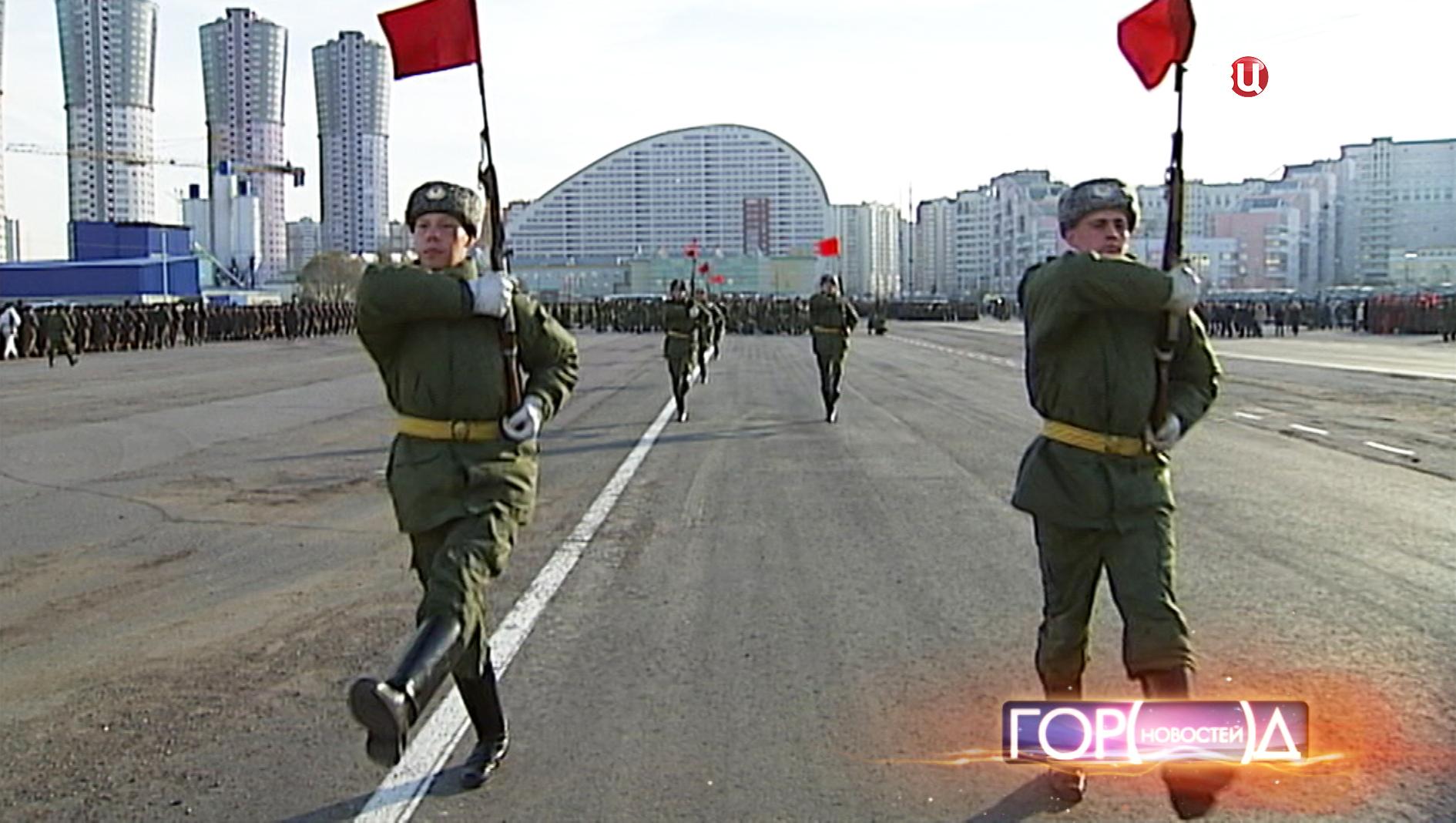 Репетиция исторического парада 7 ноября на Ходынском поле