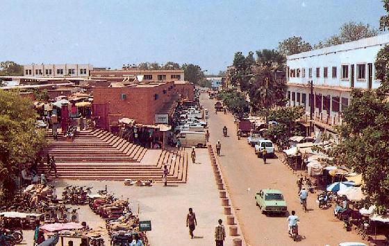 Город Уагадугу, столица Буркина-Фасо