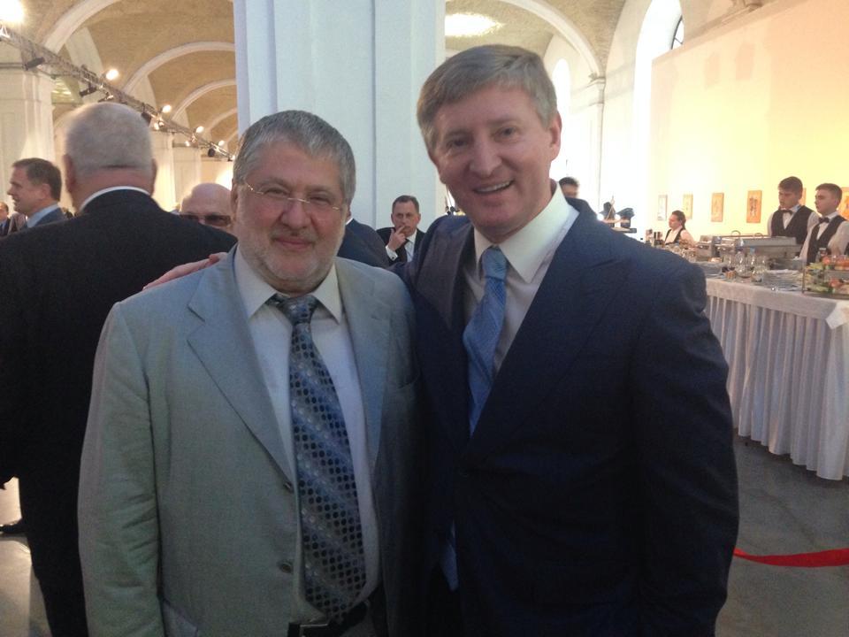 Украинские олигархи Игорь Коломойский и Ринат Ахметов