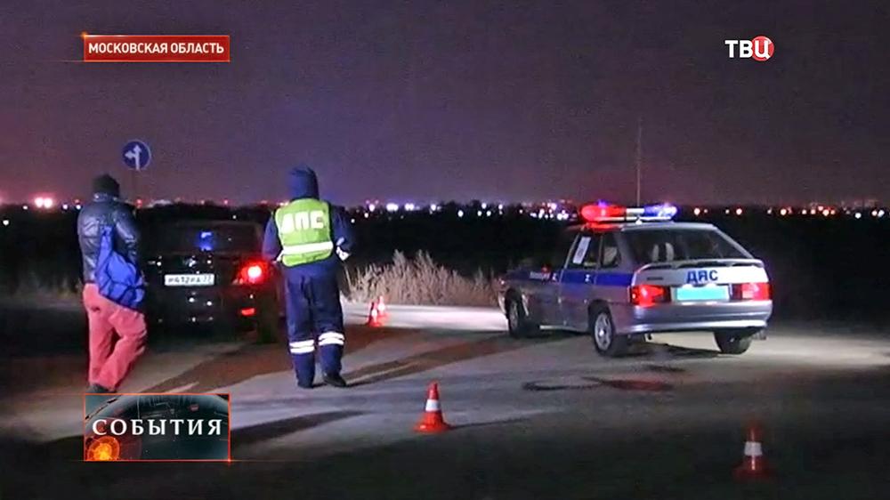 На месте убийства автоинспекторов ДПС в Подмосковье