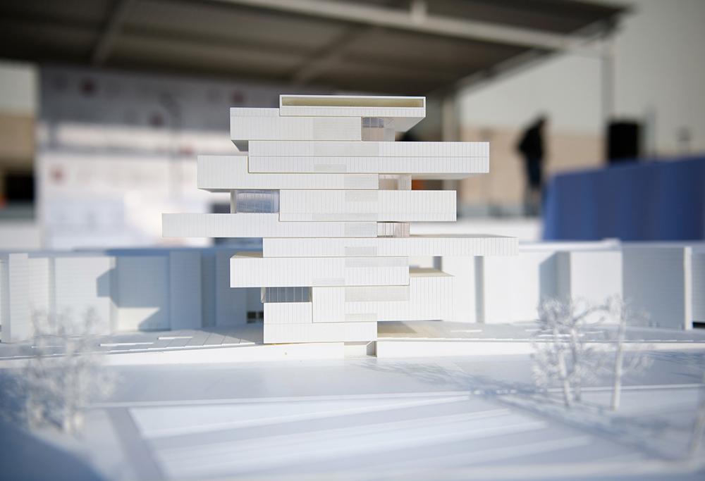 Макет нового Государственного центра современного искусства на Ходынском поле