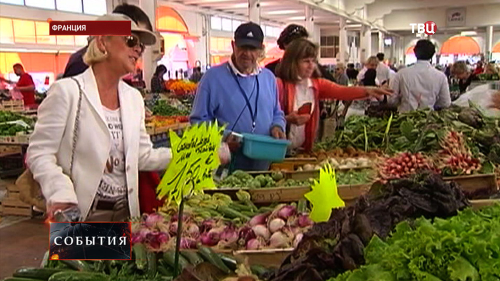 Сельскохозяйственный рынок во Франции