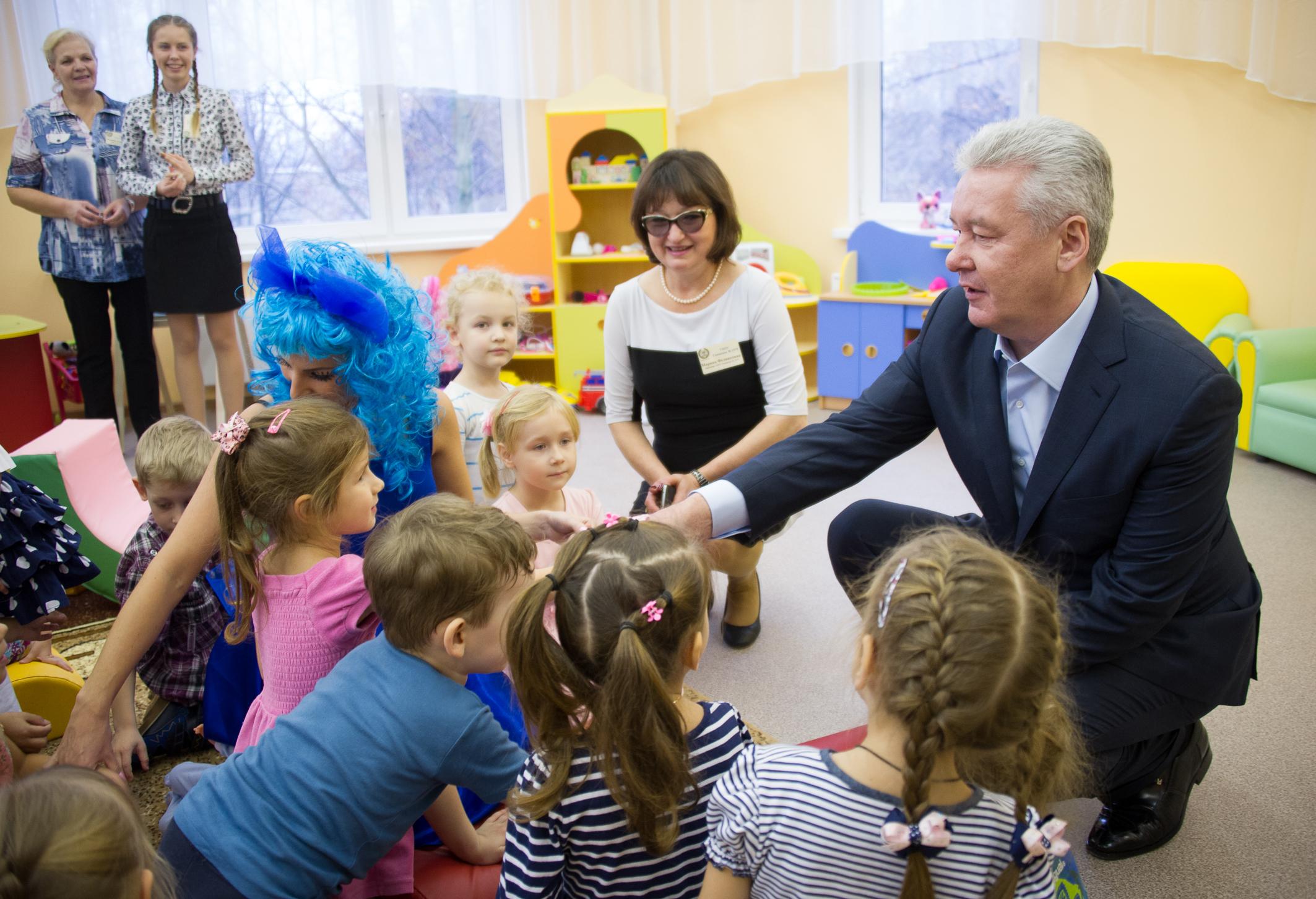 Сергей Собянин на открытии детского сада № 1579