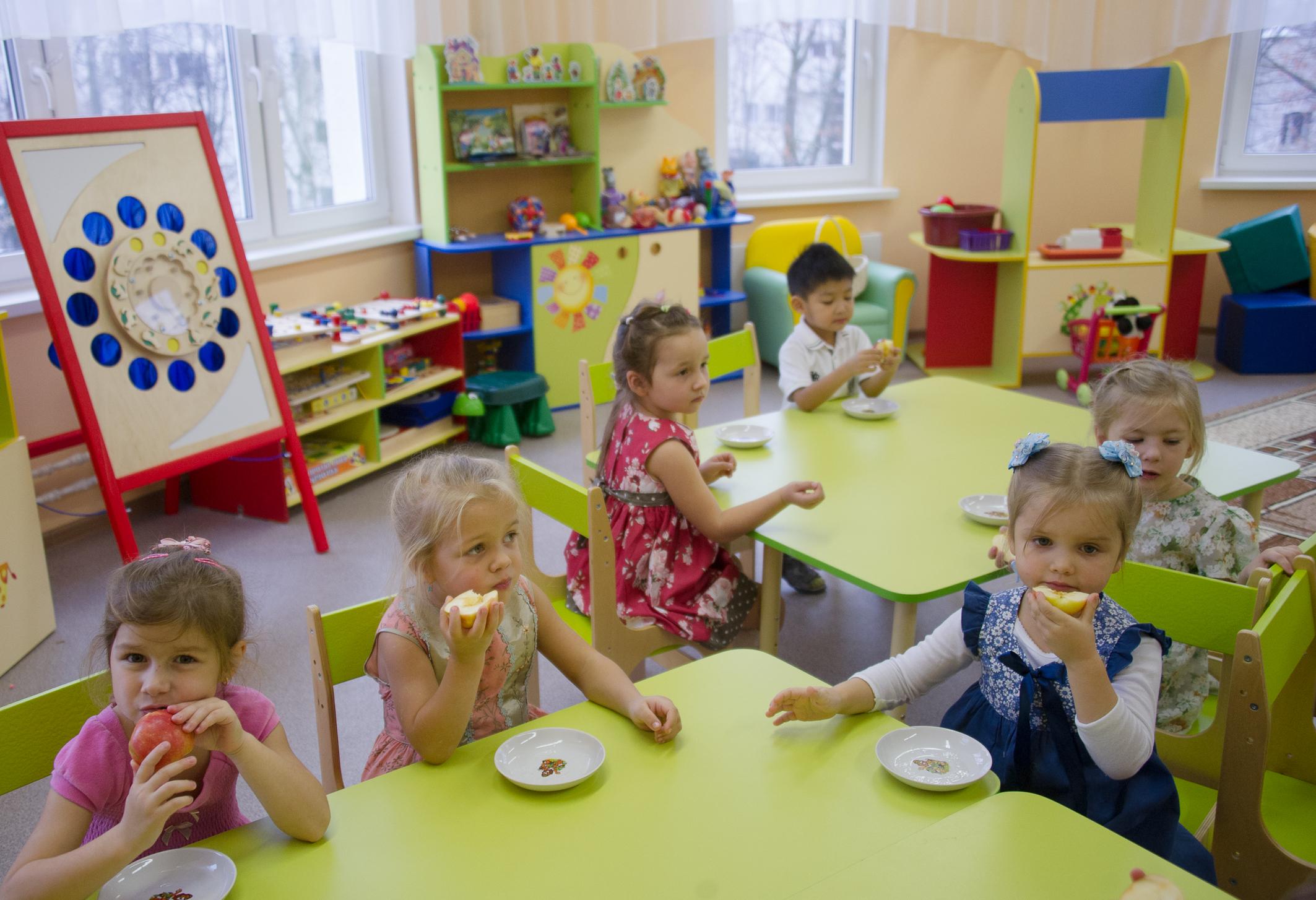 Столовая в детском саду