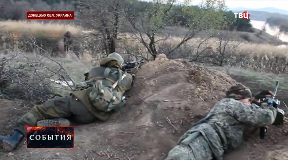 Народные ополченцы в Донецкой области