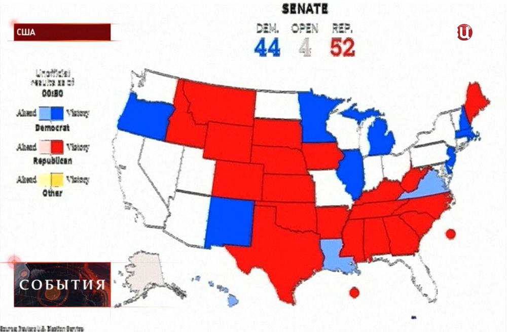 Результаты выборов в сенат США