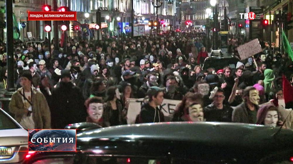 Уличные беспорядки в Лондоне