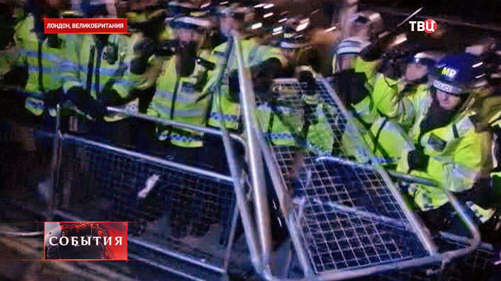 Полиция Лондона препядствует массовым беспорядкам
