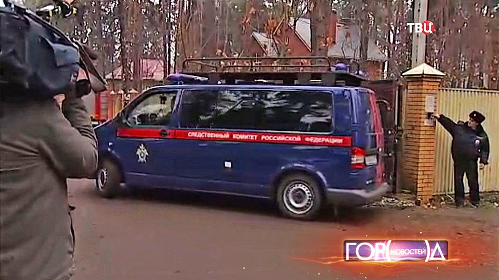 Автомобиль следственного комитета России на месте задержания банды