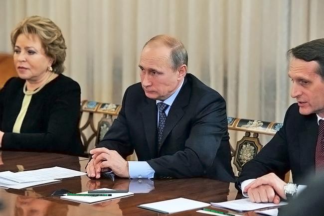 Президент России Владимир Путин во время встречи с членами ОДКБ