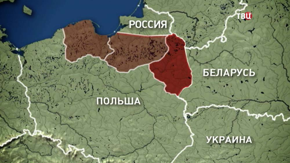 Карта скопления польских военных на восточной границе