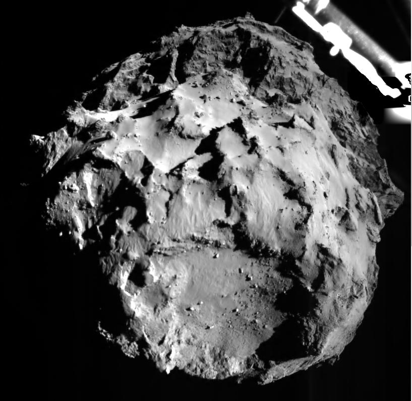 Комета Чурюмова-Герасименко с высоты трех километров
