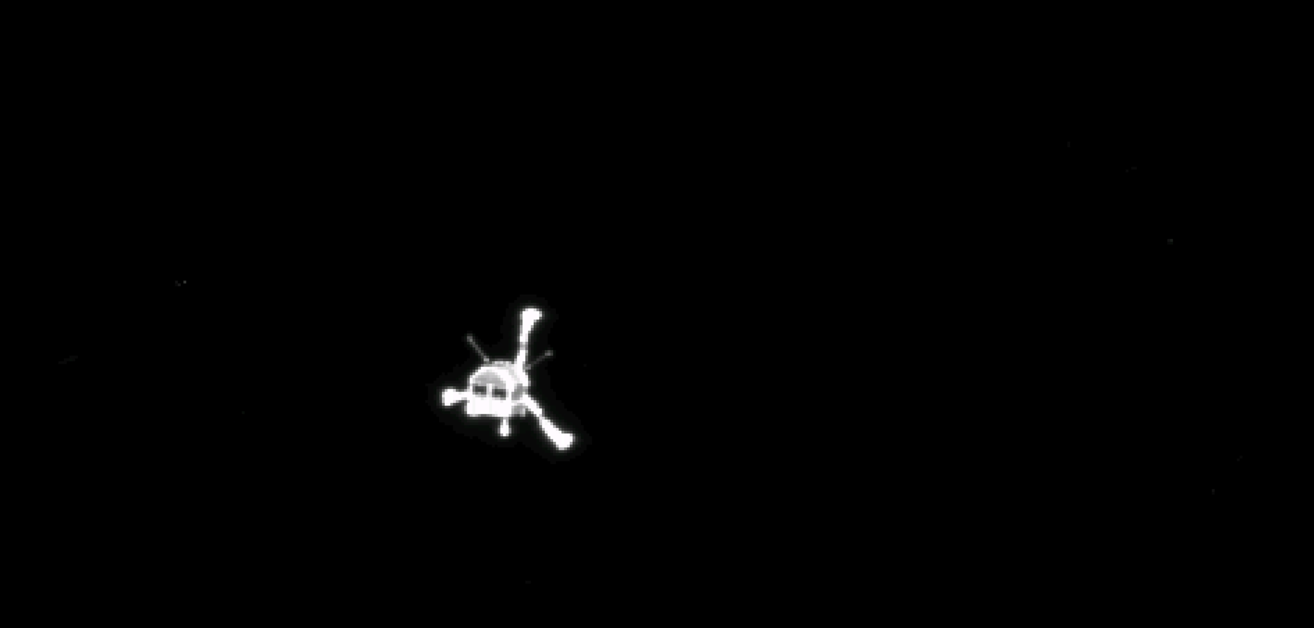 Модуль Philae во время спуска на поверхность кометы