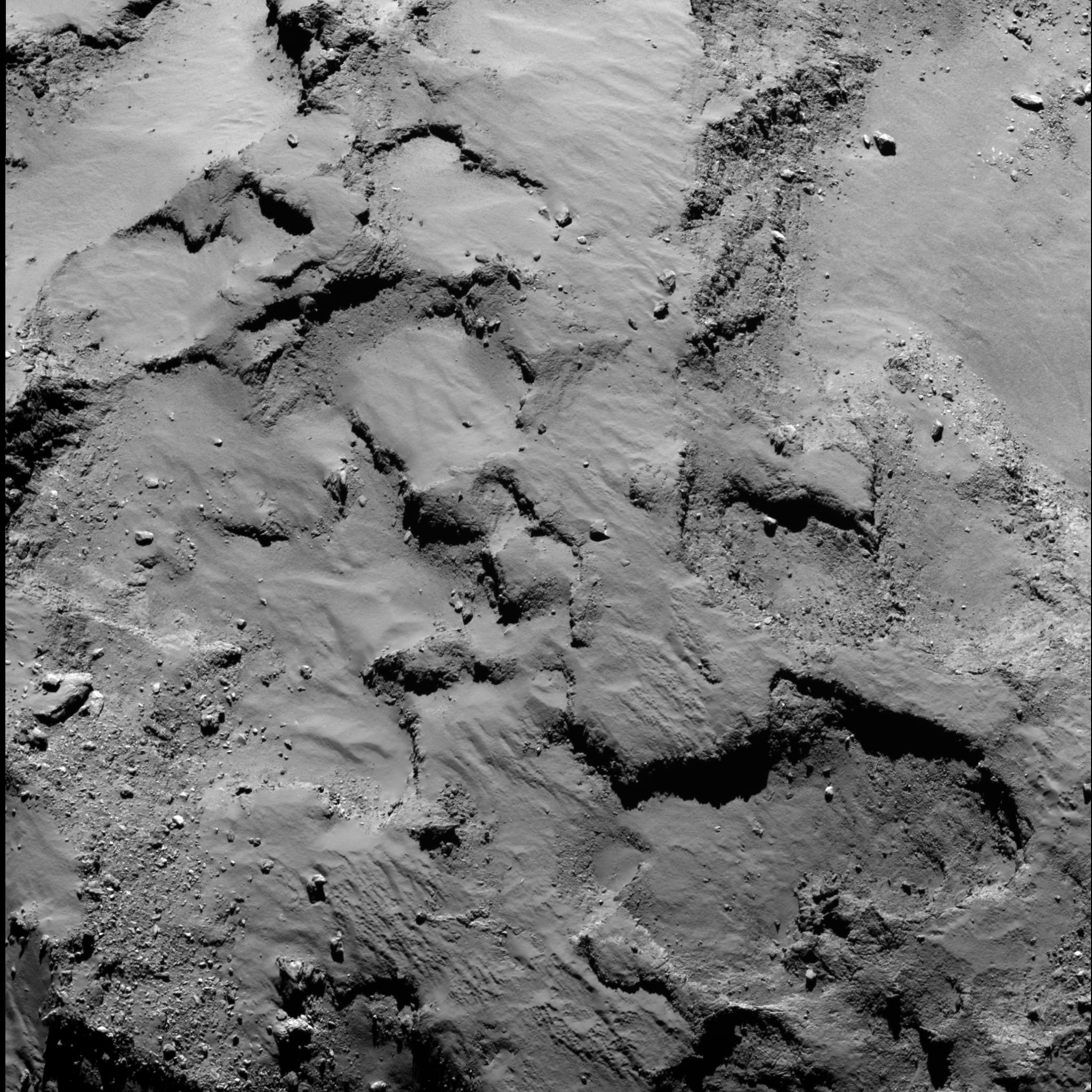 Поверхность кометы Чурюмова-Герасименко