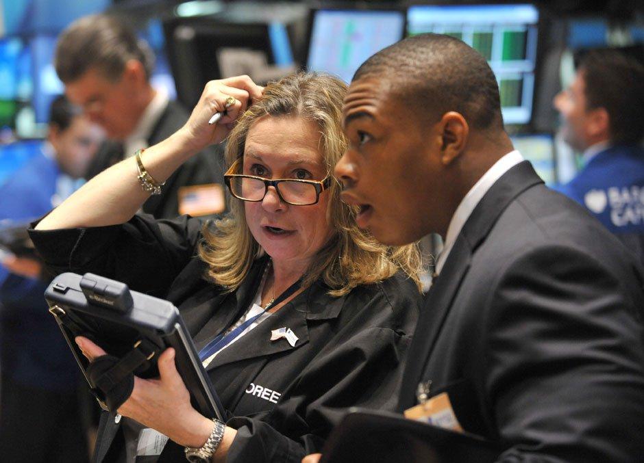 Трейдеры на Нью-Йорской товарно-сырьевой бирже
