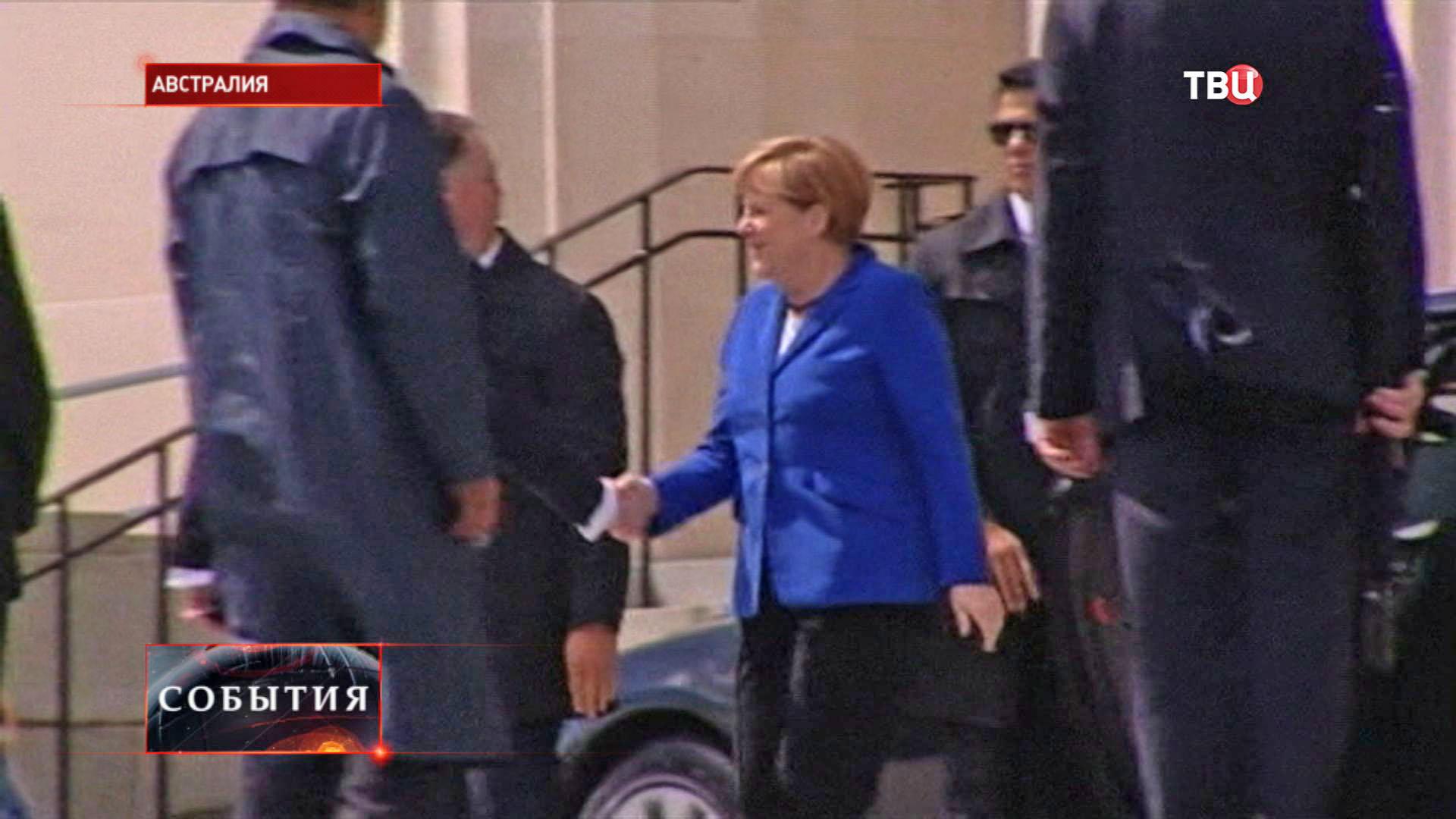 Канцлер Германии Ангела Меркель прилетела в Австралию