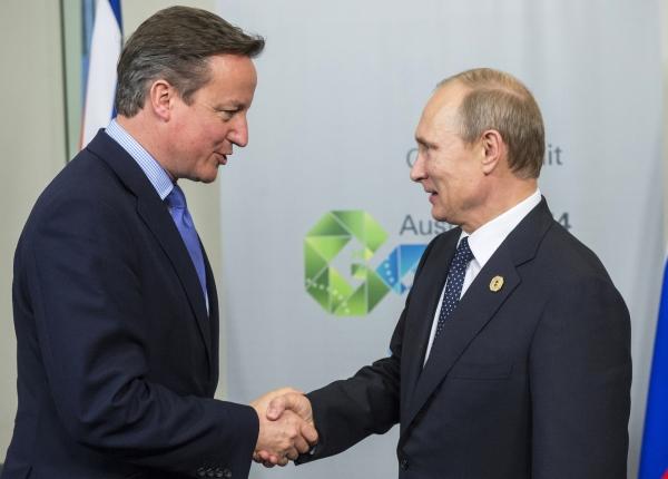 Владимир Путин и Дэвид Кэмерон во время встречи в рамках саммита G20