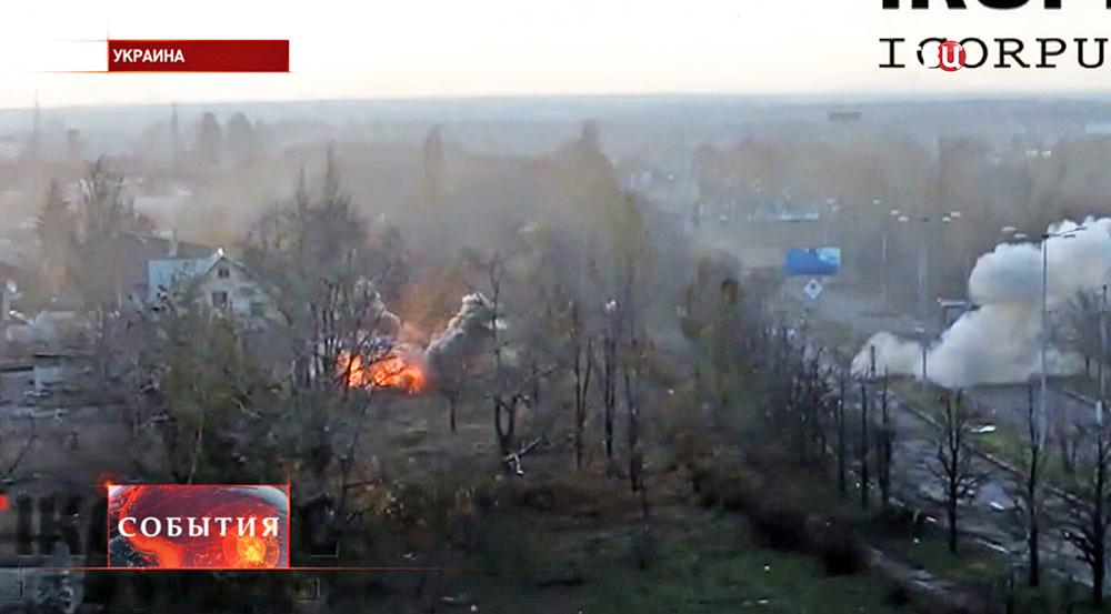 Обстрел жилых кварталов в Новороссии