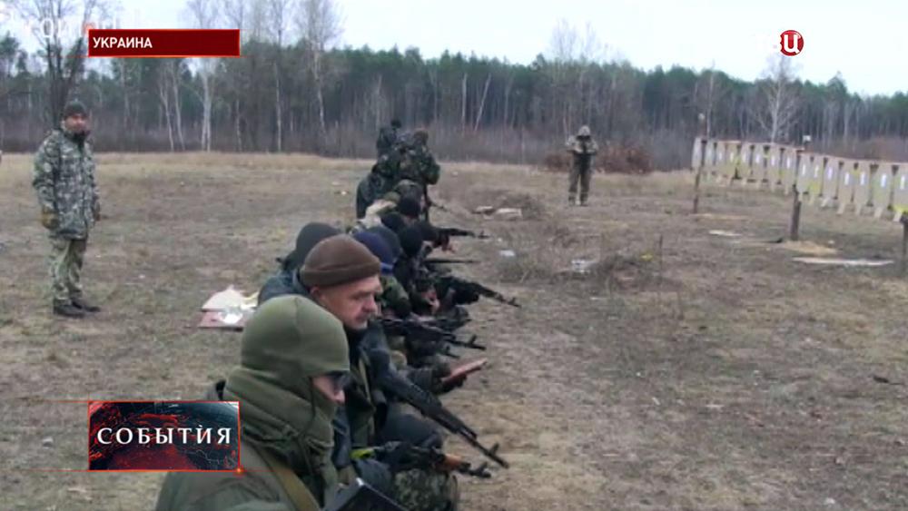 Украинские военные на стрельбах