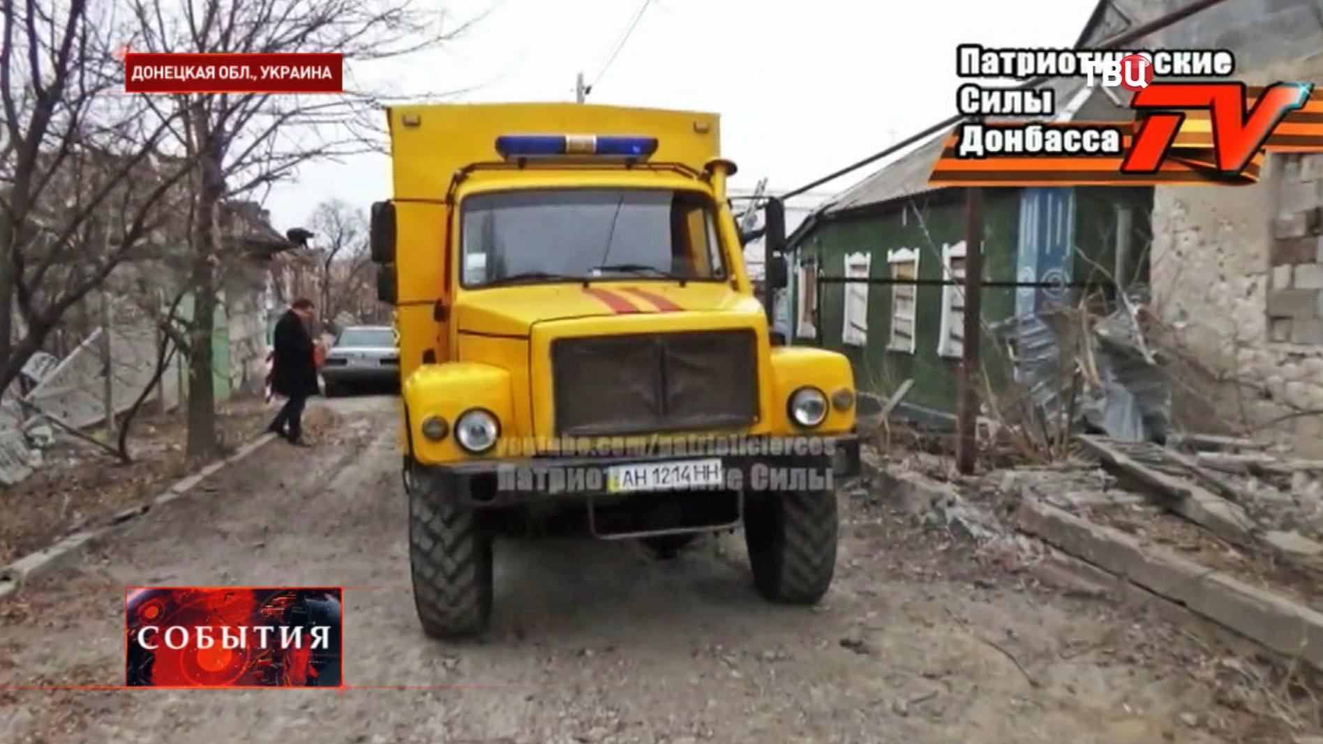 Газовая ремонтная служба устраняет последствия обстрела в Донецкой области