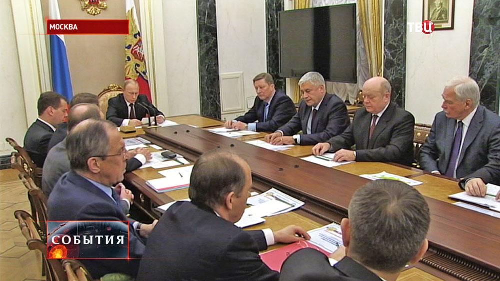Владимир Путин провёл заседание Совбеза