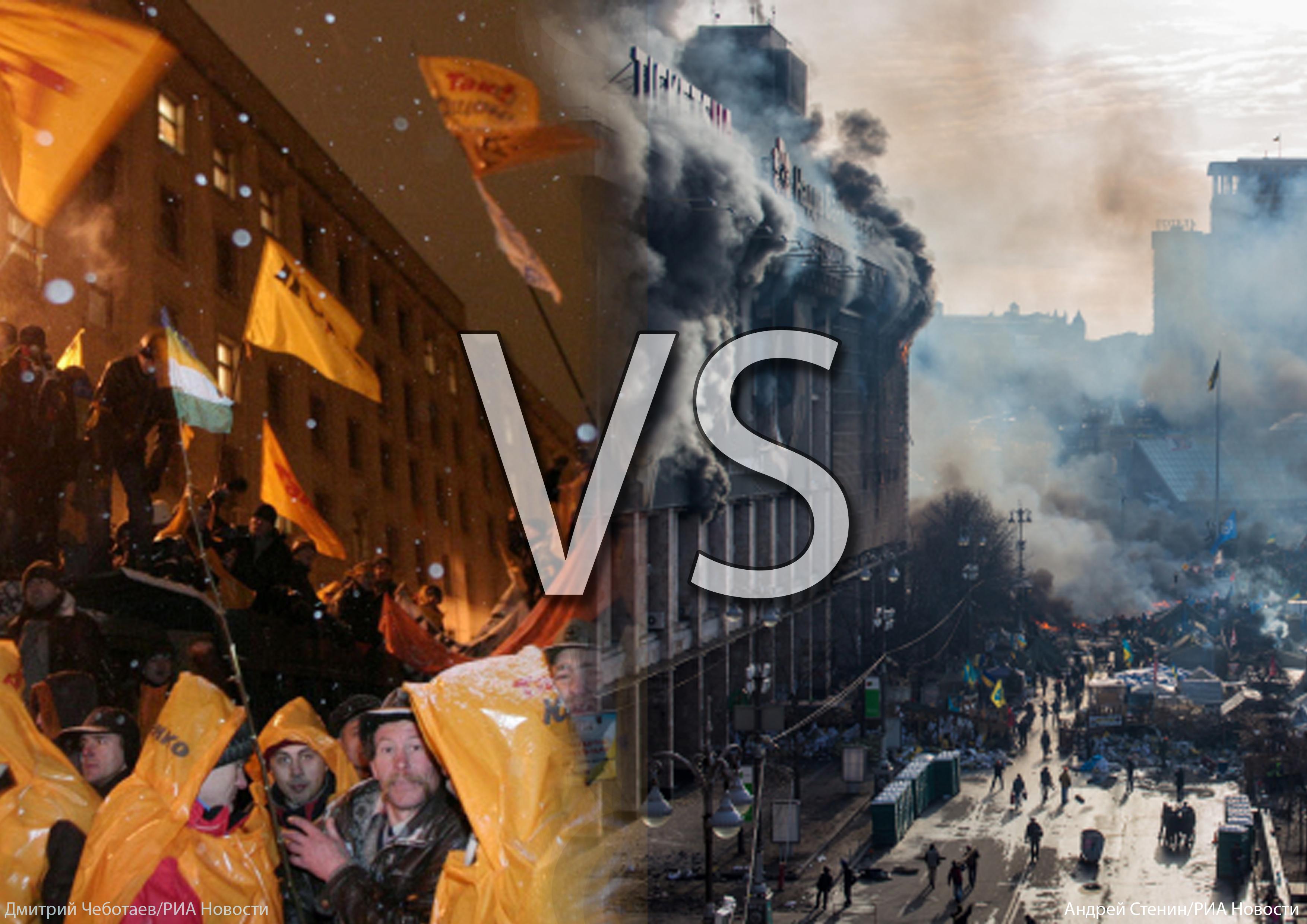Майдан-2004 против Майдана-2014: сходства и различия двух революций
