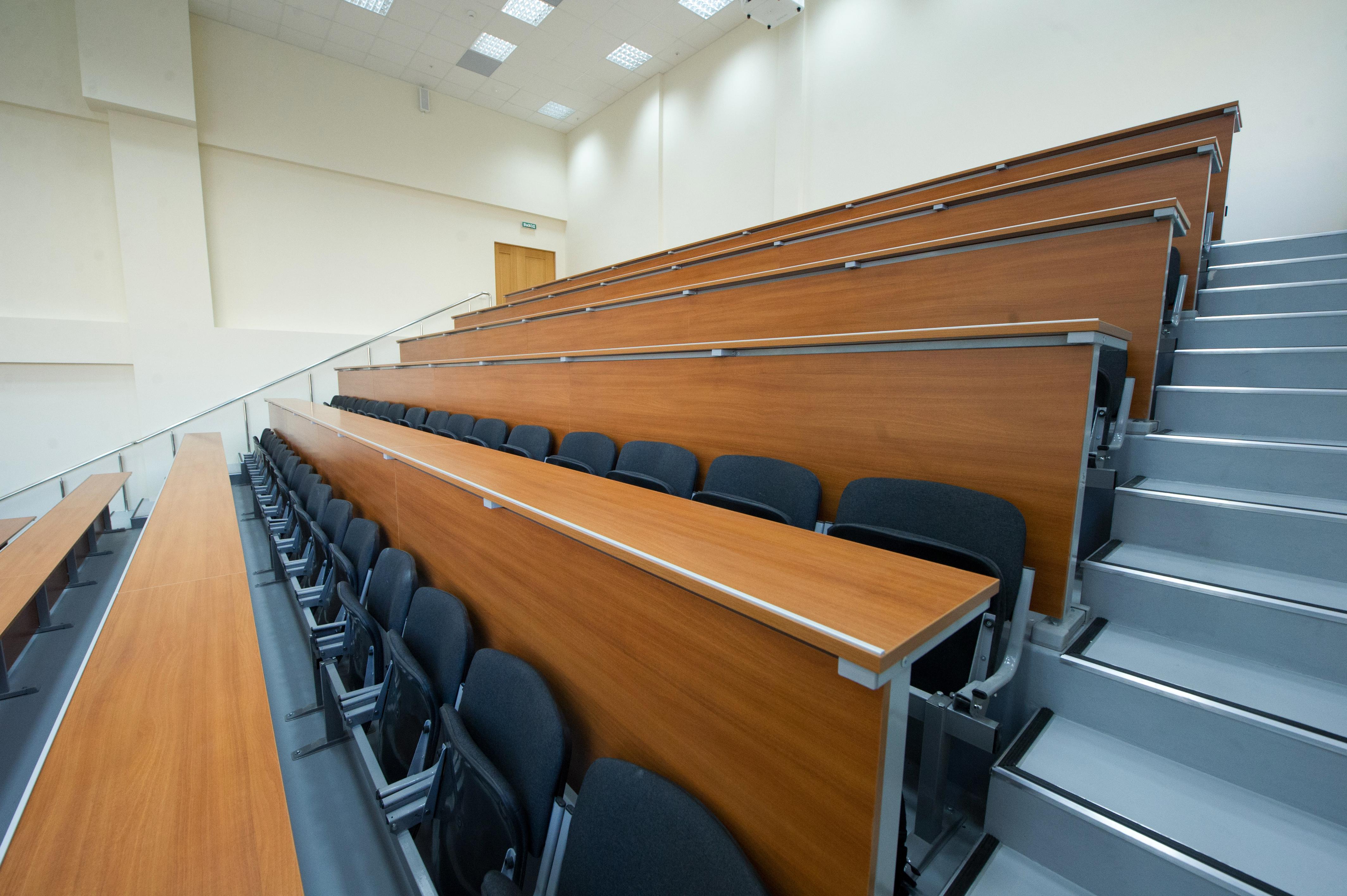 Аудитория в учебном комплексе НИУ ВШЭ в районе Строгино