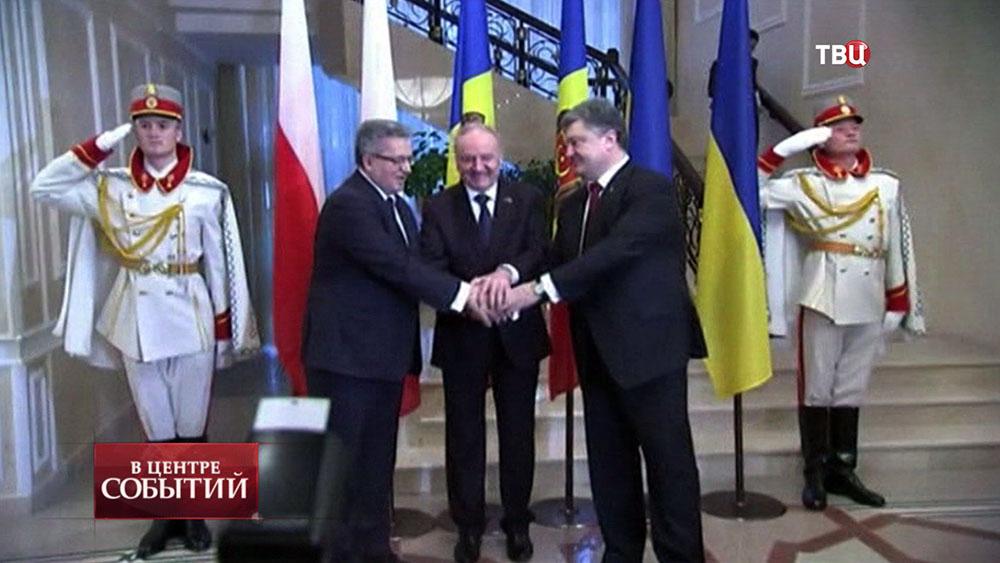 Визит Петра Порошенко в Молдавию