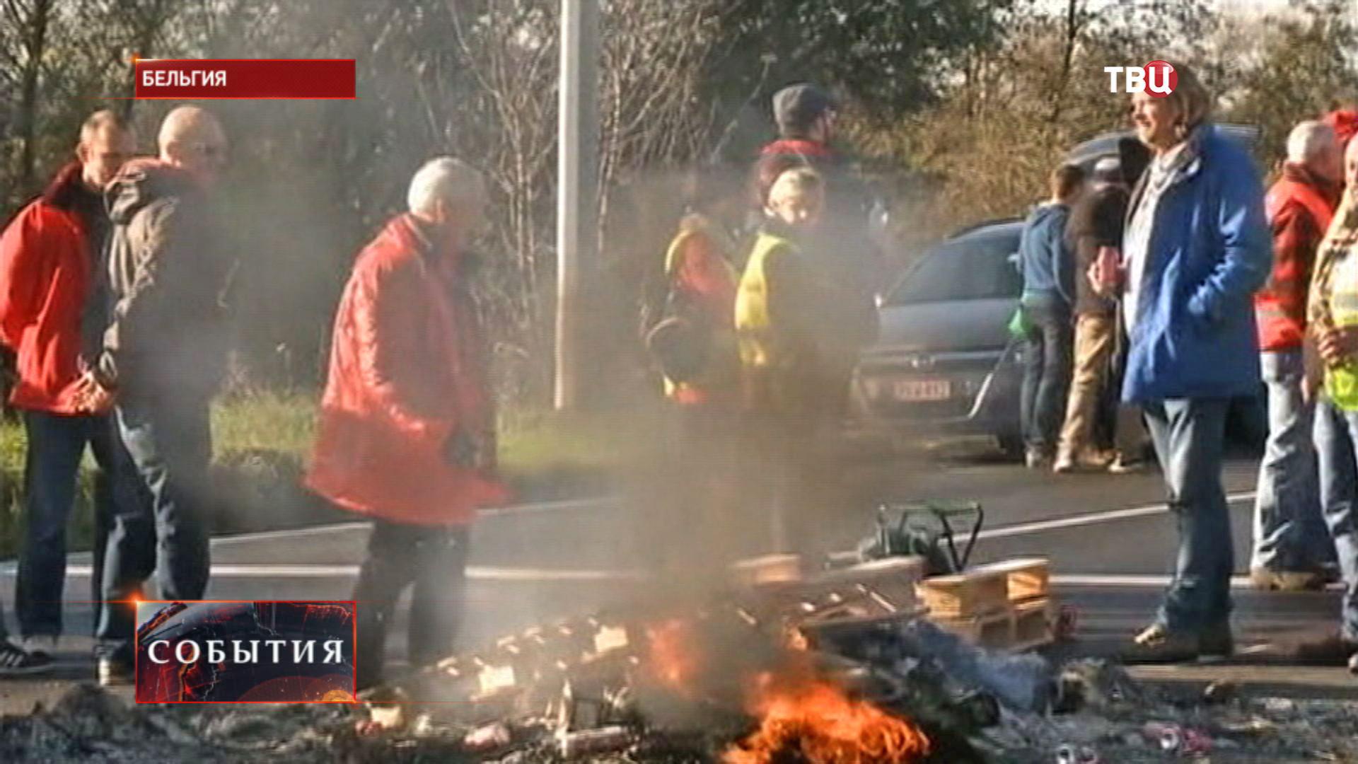 Акция протеста в Бельгии
