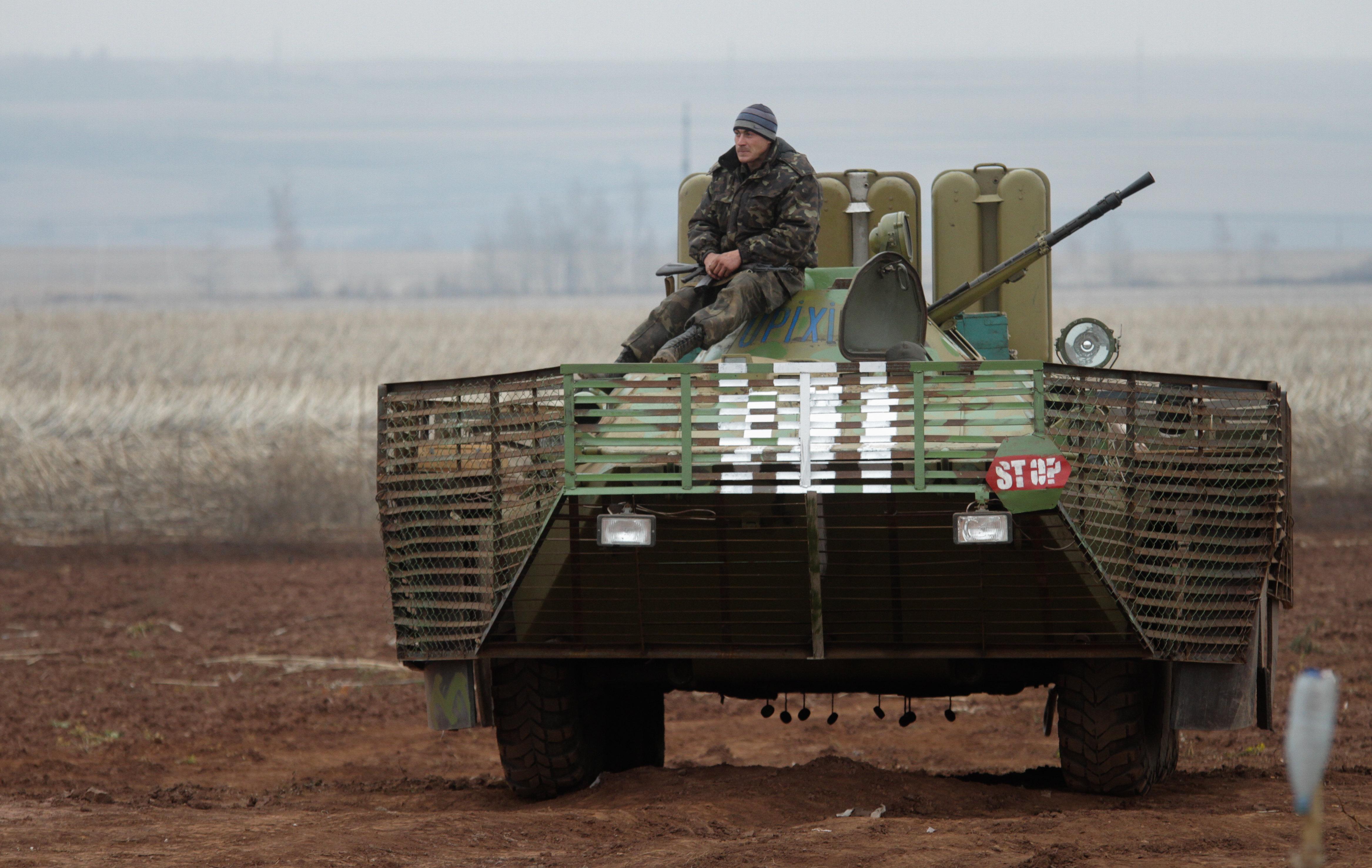 Позиции украинских войск