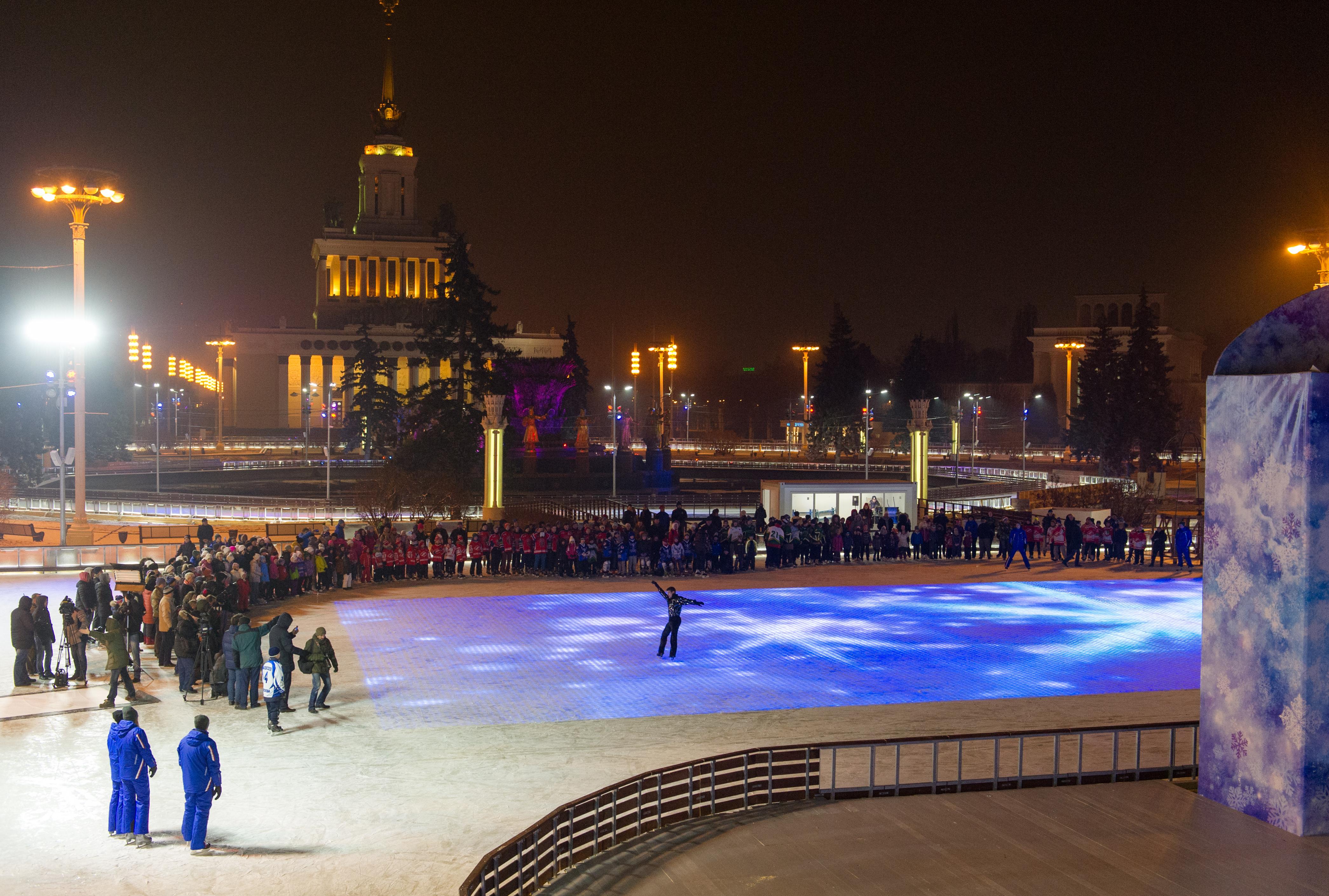 Каток на ВДНХ. Зима 2015