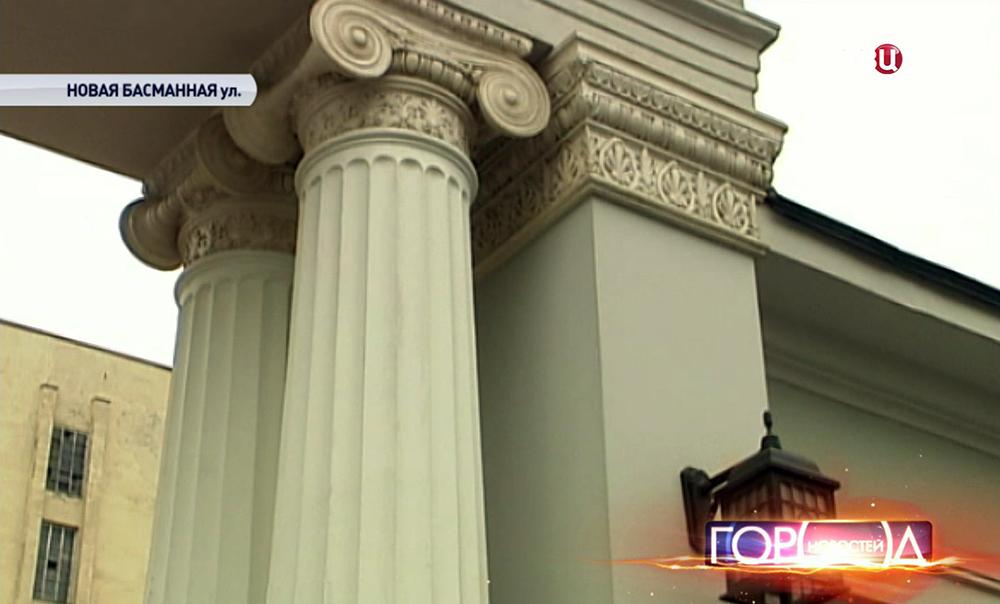 Отреставрированный особняк на Новой Басманной улице