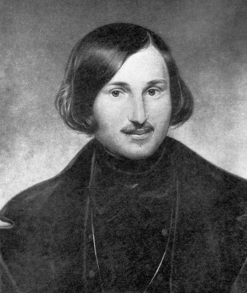 Репродукция портрета писателя Николая Гоголя работы Федора Моллера