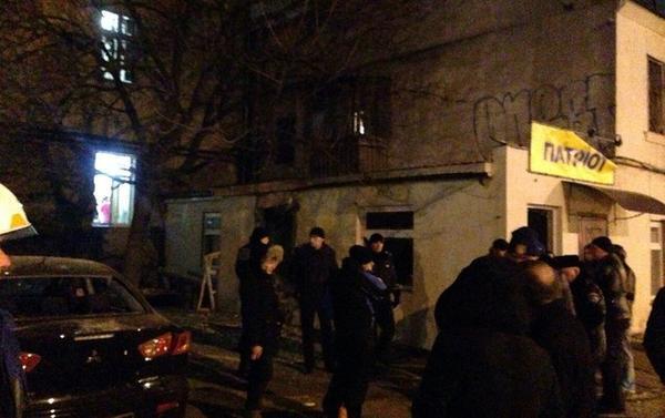 Взрыв у националистического магазина в Одессе