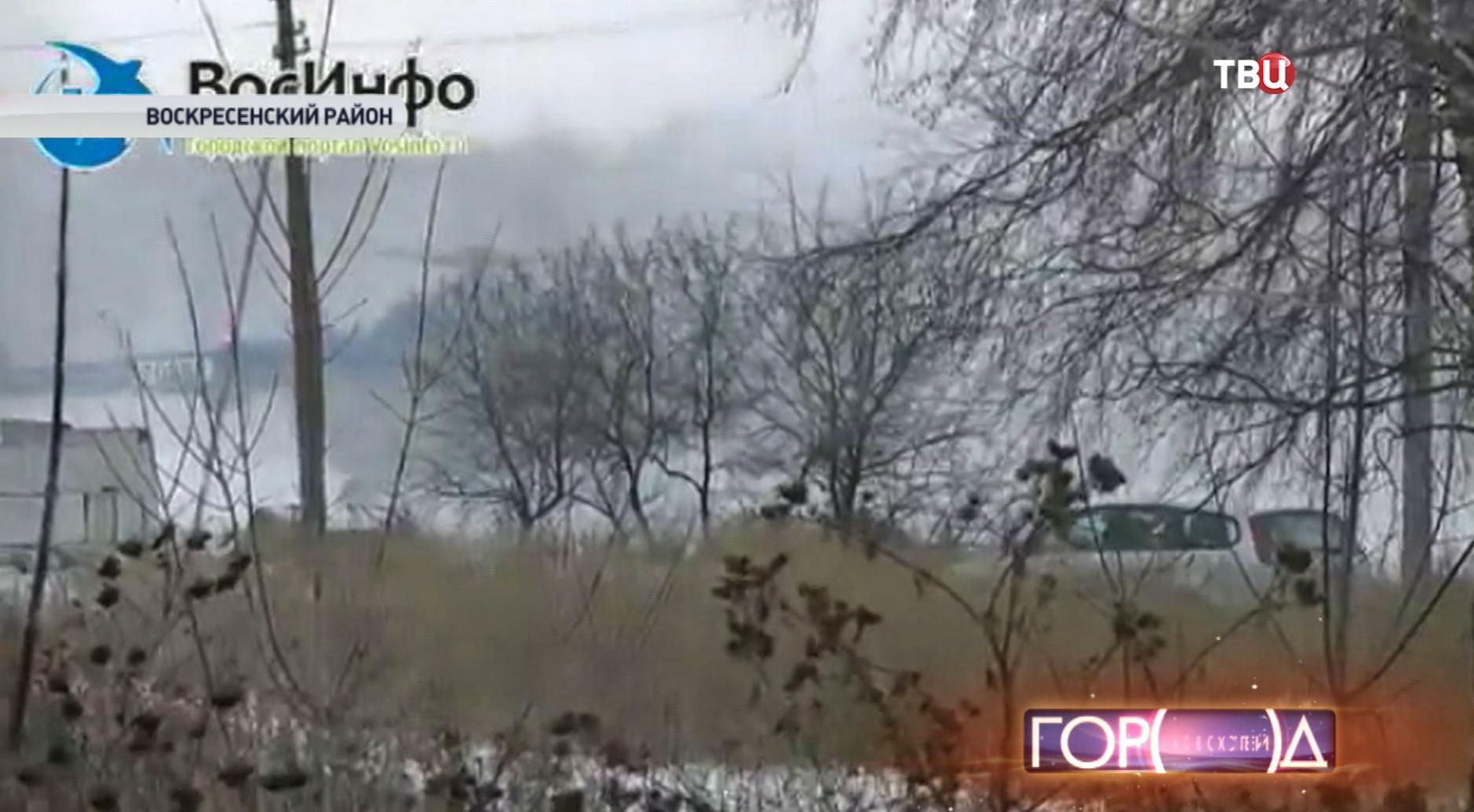 Место падения самолета МиГ-29