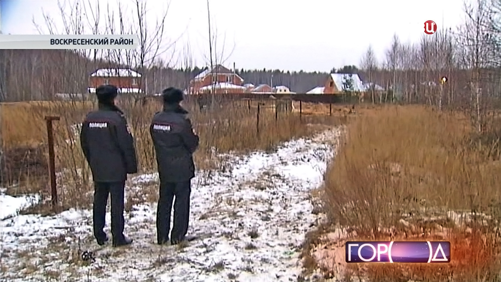 Полиция на месте падения самолета МиГ-29
