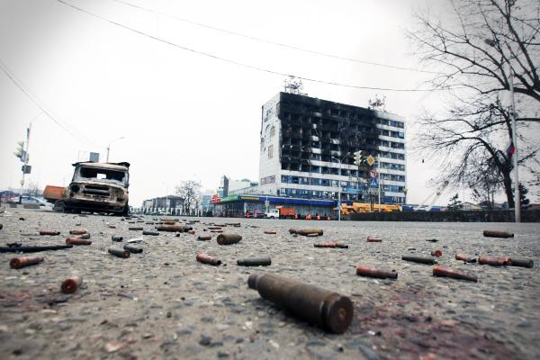Последствия спецоперации в Доме печати в Грозном