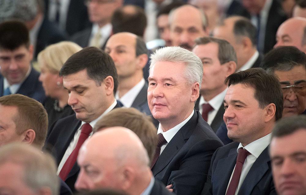 Мэр Москвы Сергей Собянин и губернатор Московской области Андрей Воробьёв