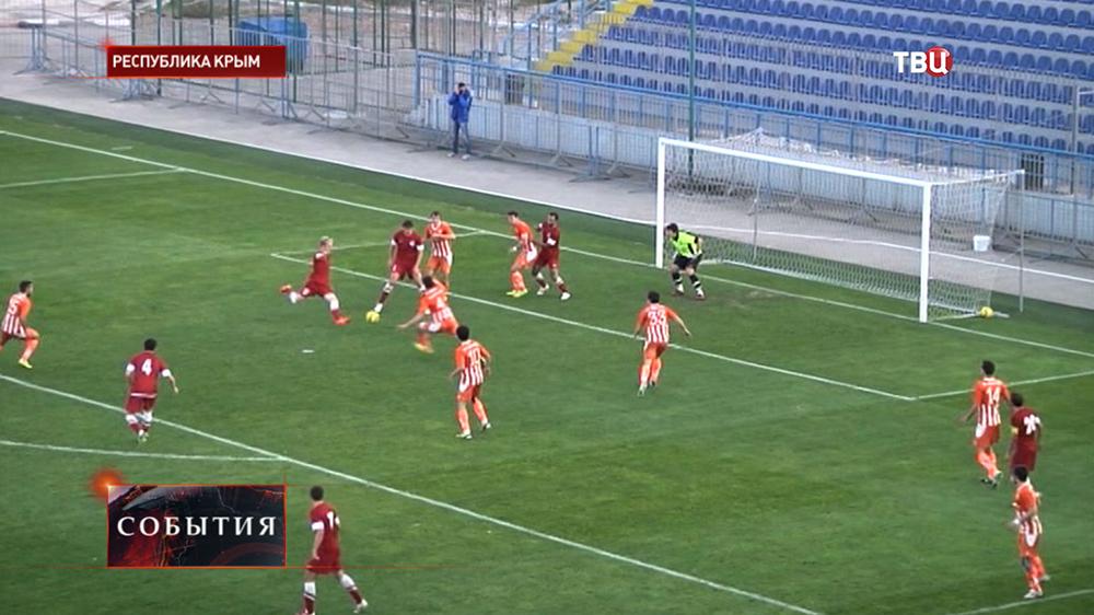 Футбольный матч в Крыму