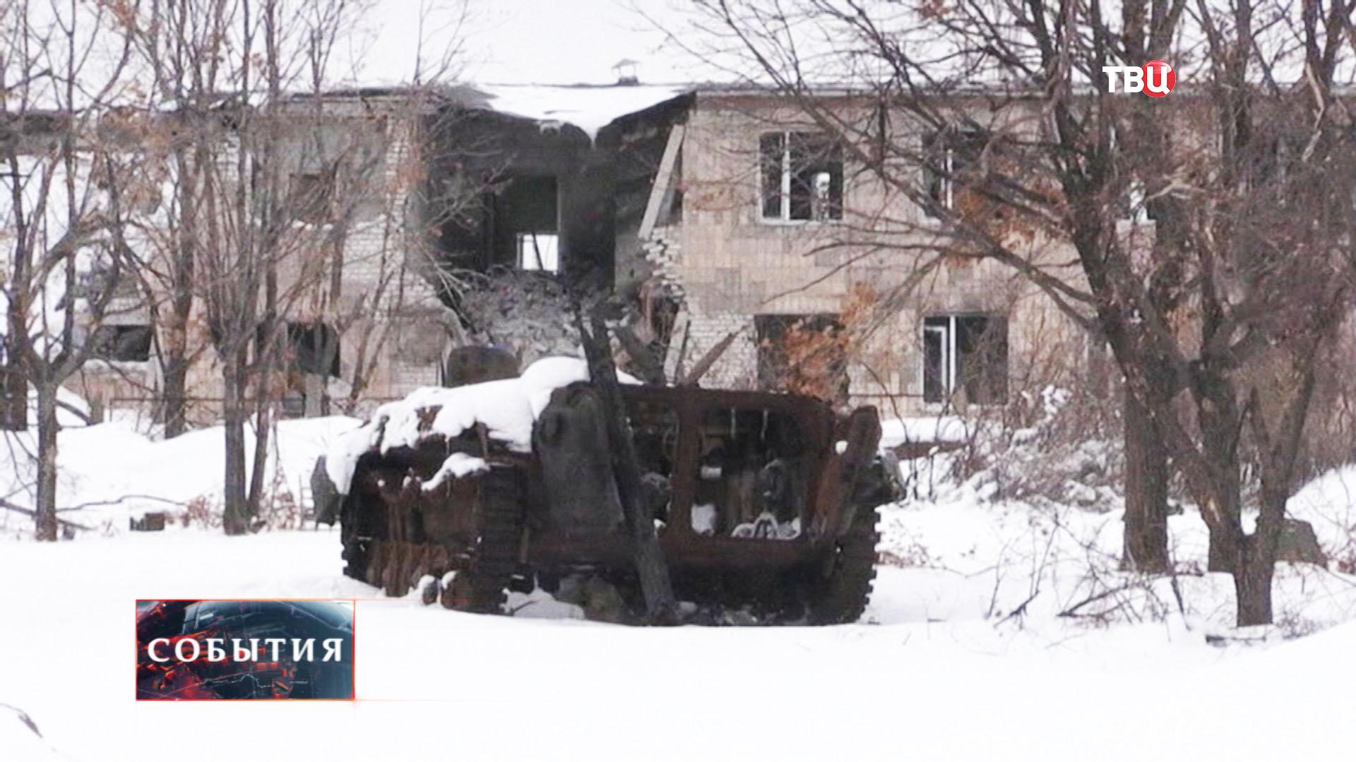 Результат боевых действий в Донецкой области