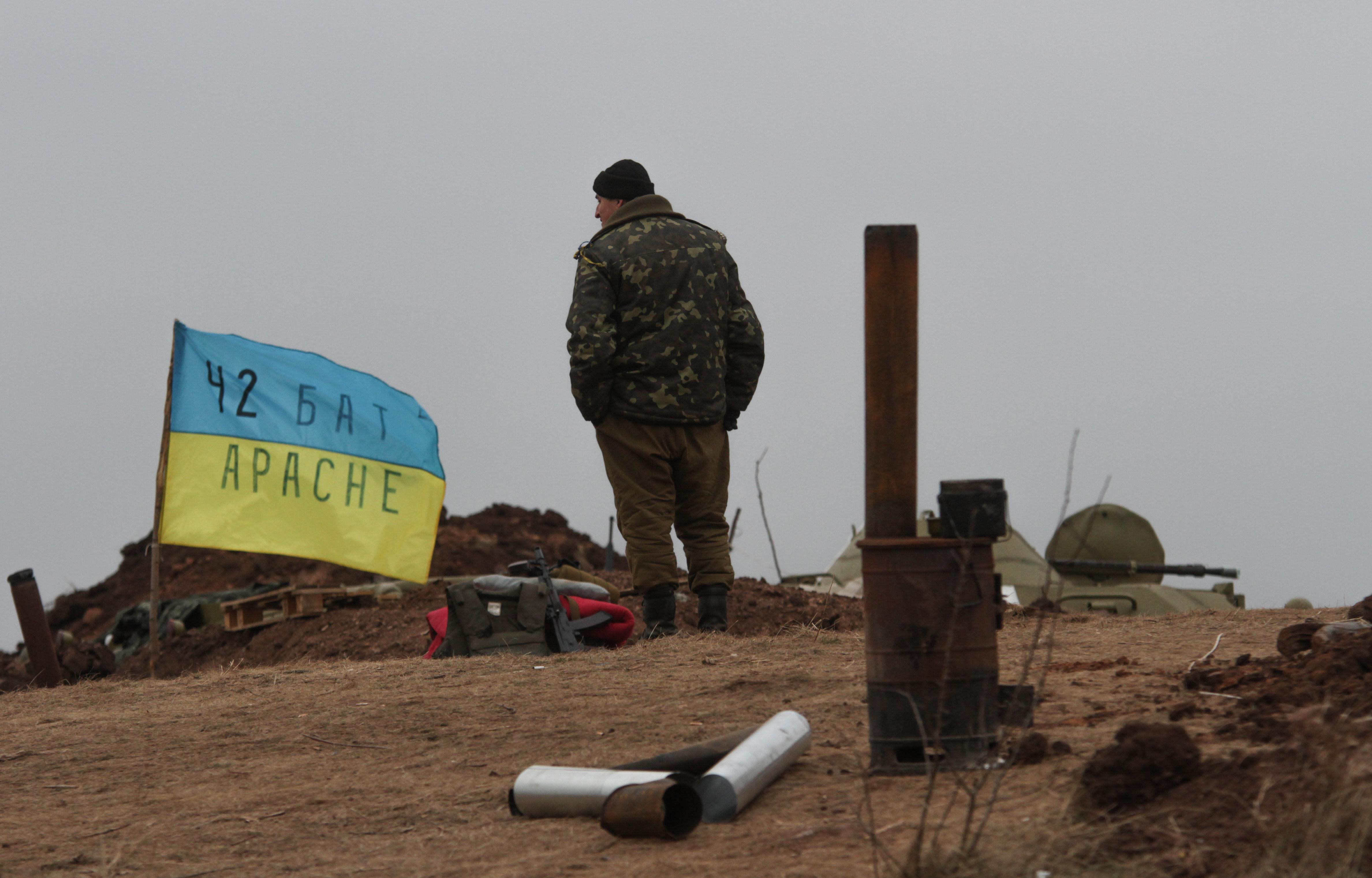 Позиция украинских войск в Донецкой области