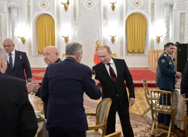 Президент России Владимир Путин на торжественном приеме по случаю Дня Героев Отечества