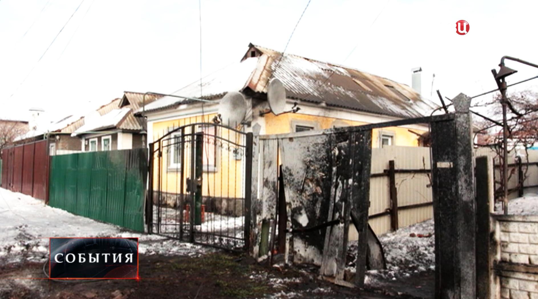 Результат артобстрела жилых кварталов в Донецкой области