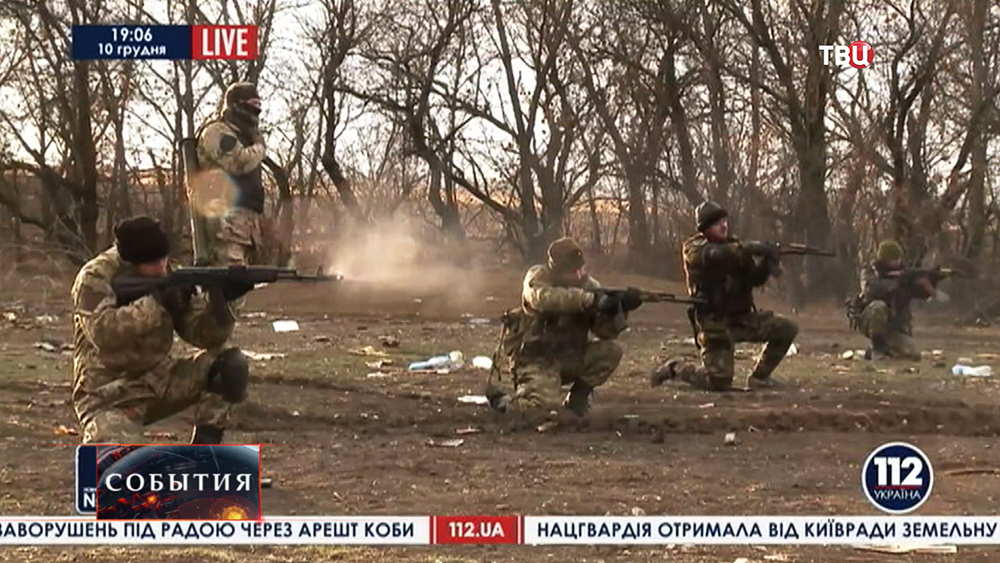 Бойцы Нацгвардии Украины на стрельбах