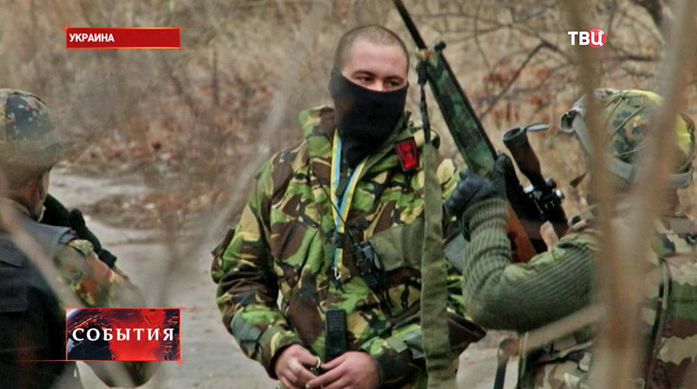Бойцы Нацгвардии Украины в зоне военных действий