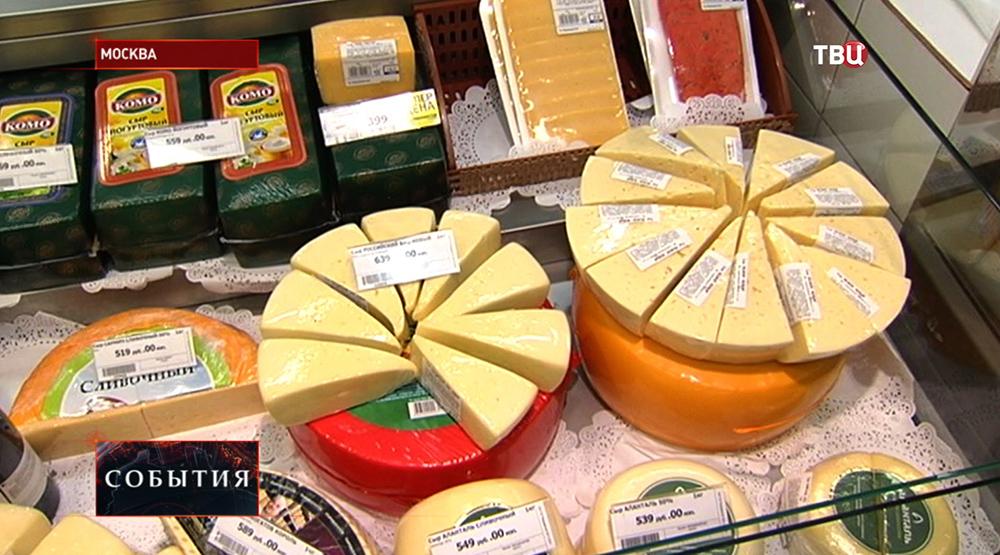 Сыр на прилавке