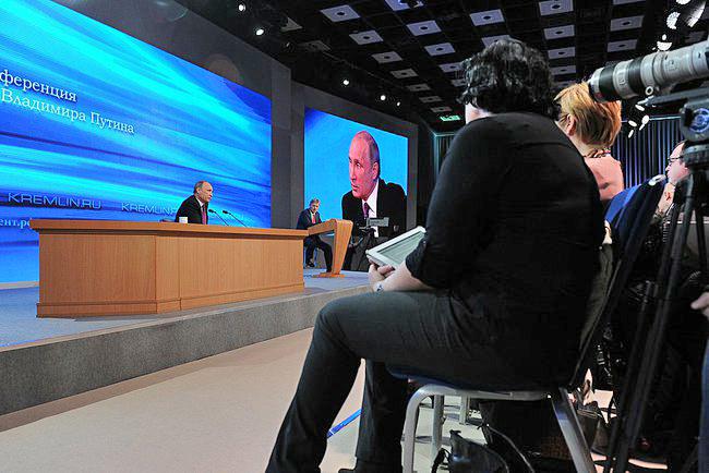 Пресс-конференциия Владимира Путина