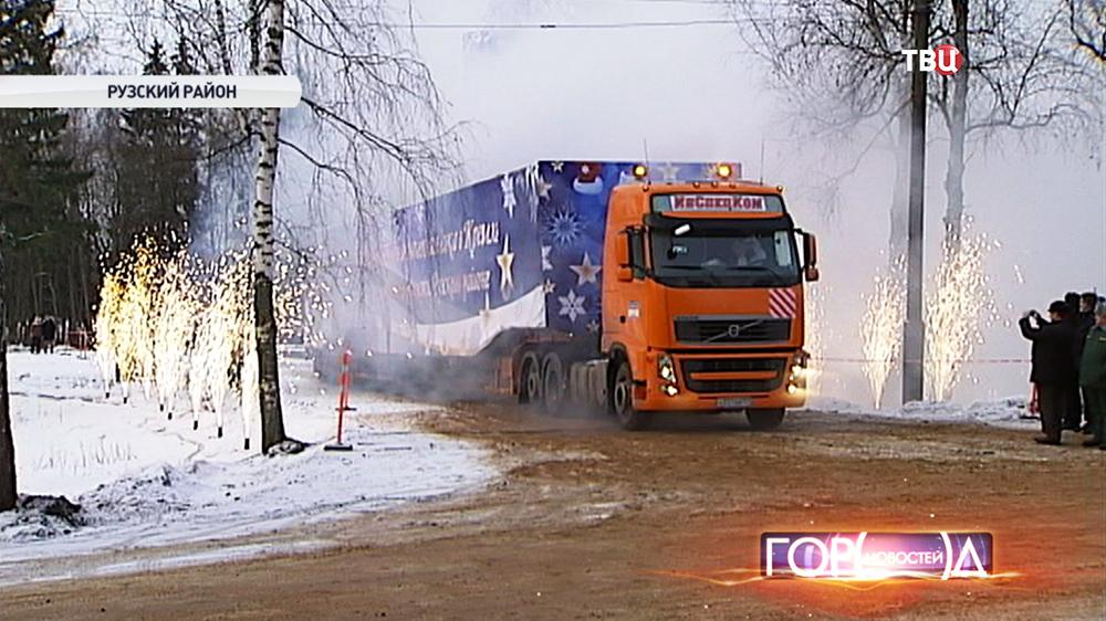 В Москву везут главную кремлевскую ель