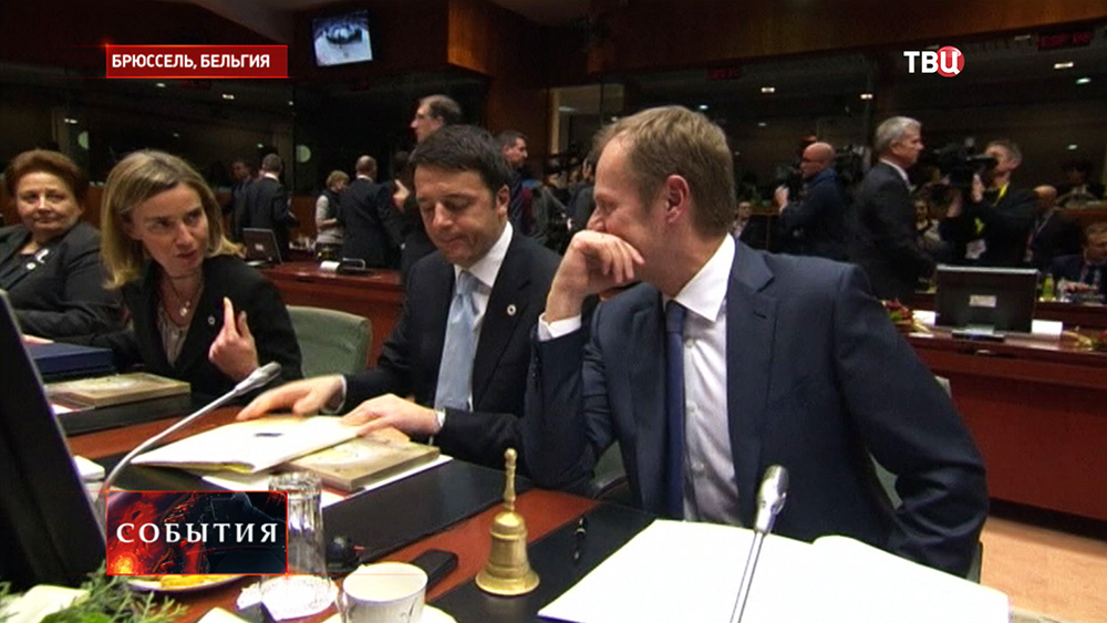 Федерика Могерини на саммите глав правительств Евросоюза