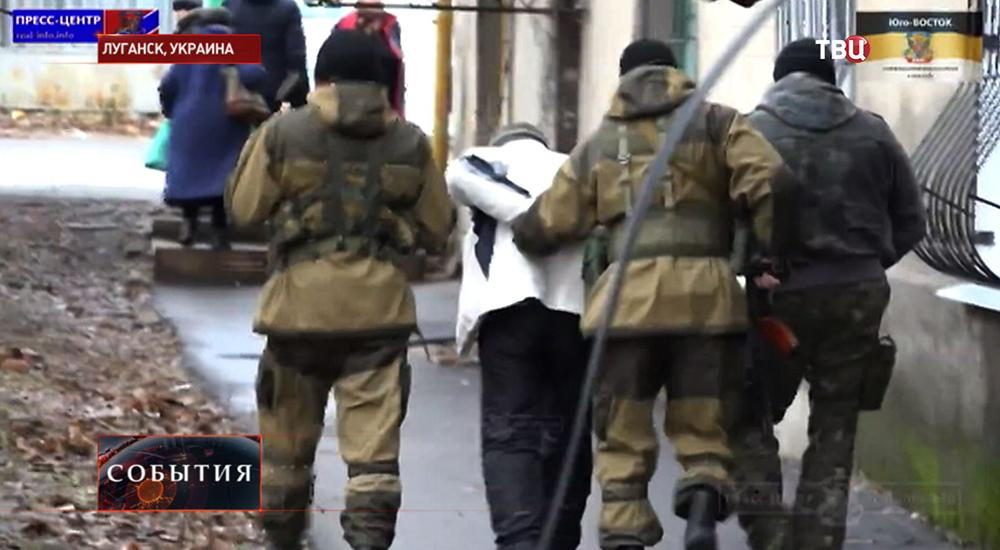 """Задержание подпольных активистов """"Правого сектора"""" в Луганске"""